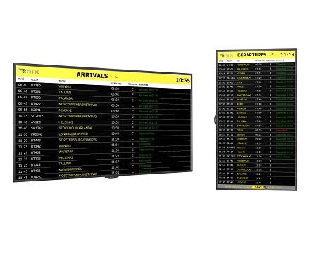 Flight Schedule Signage